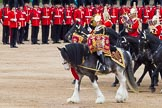 The Colonel's Review 2012: The Kettle Drummer from The Blues and Royals during the March Past.. Horse Guards Parade, Westminster, London SW1,  United Kingdom, on 09 June 2012 at 11:50, image #385