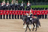 The Colonel's Review 2012: The Senior Director of Music, Lieutenant Colonel S C Barnwell, Welsh Guards, and the Kettle Drummer from The Life Guards behind him.. Horse Guards Parade, Westminster, London SW1,  United Kingdom, on 09 June 2012 at 11:50, image #386
