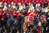 The Colonel's Review 2012: The Band of The Life Guards, with the Kettle Drummer in front.. Horse Guards Parade, Westminster, London SW1,  United Kingdom, on 09 June 2012 at 11:51, image #391