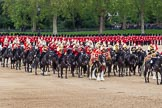 The Colonel's Review 2012: The Mounted Bands of the Household Cavalry - The Life Guards on the left, the Blues and Royals on the right.. Horse Guards Parade, Westminster, London SW1,  United Kingdom, on 09 June 2012 at 11:51, image #392