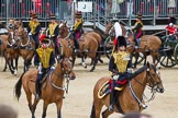 The Colonel's Review 2012: The Commanding Officer  Royal Horse Artillery, Major M G Edward, leading the RHA during the Ride Past.. Horse Guards Parade, Westminster, London SW1,  United Kingdom, on 09 June 2012 at 11:51, image #394