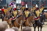 The Colonel's Review 2012: The King's Troop Royal Horse Artillery during their Ride Past.. Horse Guards Parade, Westminster, London SW1,  United Kingdom, on 09 June 2012 at 11:51, image #395