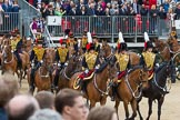 The Colonel's Review 2012: The King's Troop Royal Horse Artillery during their Ride Past.. Horse Guards Parade, Westminster, London SW1,  United Kingdom, on 09 June 2012 at 11:51, image #396