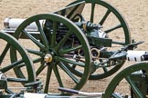 The Colonel's Review 2012: A pair of the 13-pounder guns used by the Royal Horse Artillery.. Horse Guards Parade, Westminster, London SW1,  United Kingdom, on 09 June 2012 at 11:52, image #402