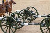 The Colonel's Review 2012: A pair of the 13-pounder guns used by the Royal Horse Artillery.. Horse Guards Parade, Westminster, London SW1,  United Kingdom, on 09 June 2012 at 11:52, image #404