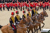 The Colonel's Review 2012: Mounted Gunners of the Royal Horse Artillery during the Ride Past.. Horse Guards Parade, Westminster, London SW1,  United Kingdom, on 09 June 2012 at 11:52, image #405