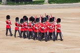 "Trooping the Colour 2012: The ""Keepers of the Ground"" arriving, they will mark the positions of their Guard Division on Horse Guards Parade.. Horse Guards Parade, Westminster, London SW1,  United Kingdom, on 16 June 2012 at 09:53, image #10"