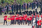 Trooping the Colour 2012: The Band of the Welsh Guards arriving on Horse Guards Parade, led by Senior Drum Major M Betts, Grenadier Guards.. Horse Guards Parade, Westminster, London SW1,  United Kingdom, on 16 June 2012 at 10:12, image #19