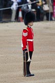 Trooping the Colour 2012: A Lance Sergeant of the Welsh Guards, marking the position for the Band of the Welsh Guards on Horse Guards Parade.. Horse Guards Parade, Westminster, London SW1,  United Kingdom, on 16 June 2012 at 10:14, image #24