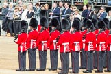 Trooping the Colour 2012: No. 6 Guard, F Company Scots Guards, getting into position.. Horse Guards Parade, Westminster, London SW1,  United Kingdom, on 16 June 2012 at 10:26, image #51