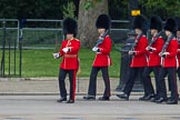 Trooping the Colour 2012: Captain M H Meredith leading No. 3 Guard No. 7 Company, Coldstream Guards, onto Horse Guards Parade.. Horse Guards Parade, Westminster, London SW1,  United Kingdom, on 16 June 2012 at 10:27, image #60