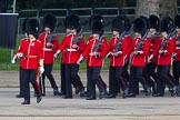 Trooping the Colour 2012: Captain C J D Stevenson leading No. 4 Guard, Nijmegen Company Grenadier Guards, onto Horse Guards Parade.. Horse Guards Parade, Westminster, London SW1,  United Kingdom, on 16 June 2012 at 10:28, image #61