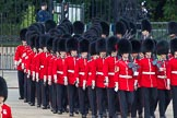 Trooping the Colour 2012: No. 3 Guard, No. 7 Company, Coldstream Guards arriving at Horse Guards Parade, in front  Colour Sergeant D P Wall.. Horse Guards Parade, Westminster, London SW1,  United Kingdom, on 16 June 2012 at 10:28, image #62