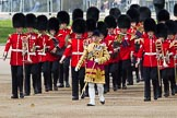 Trooping the Colour 2012: Drum Major Stephen Staite, Grenadier Guards, leading the Band of the Grenadier Guards to their position on Horse Guards Parade.. Horse Guards Parade, Westminster, London SW1,  United Kingdom, on 16 June 2012 at 10:28, image #63