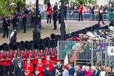 Trooping the Colour 2012: No. 3 Guard, No. 7 Company, Coldstream Guards, arriving at Horse Guards Parade.. Horse Guards Parade, Westminster, London SW1,  United Kingdom, on 16 June 2012 at 10:30, image #68