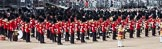 Trooping the Colour 2012: With the Massed Bands in place on the Wester Side of Horse Guards Parade, the parade is about to begin.. Horse Guards Parade, Westminster, London SW1,  United Kingdom, on 16 June 2012 at 10:32, image #77