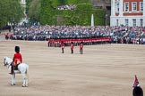 Trooping the Colour 2012: The Eastern side of Horse Guards Parade, with No. 6 Guard behind the Colour Party, and the Adjutant of the Parade in front.. Horse Guards Parade, Westminster, London SW1,  United Kingdom, on 16 June 2012 at 10:35, image #85