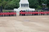 Trooping the Colour 2012: Closing thee last gap in the row of guardsmen, No. 3 Guard in front of the Guards Memorial.. Horse Guards Parade, Westminster, London SW1,  United Kingdom, on 16 June 2012 at 10:35, image #89