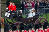 Trooping the Colour 2012: Prince Harry, the Ducess of Cornwall, and the Duchess of Cambridge in the first carriage.. Horse Guards Parade, Westminster, London SW1,  United Kingdom, on 16 June 2012 at 10:50, image #115