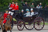 Trooping the Colour 2012: Prince Harry, the Ducess of Cornwall, and the Duchess of Cambridge in the first carriage.. Horse Guards Parade, Westminster, London SW1,  United Kingdom, on 16 June 2012 at 10:50, image #117