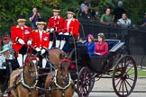 Trooping the Colour 2012: In the second carriage Prince Andrew, the Duke of York, and his daughters, Princesses Eugenie and Beatrice.. Horse Guards Parade, Westminster, London SW1,  United Kingdom, on 16 June 2012 at 10:50, image #118