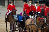 Trooping the Colour 2012: Princess Beatrice of York in the second carriage, with Lady Coachman Phillipa Jackson saluting the Colour.. Horse Guards Parade, Westminster, London SW1,  United Kingdom, on 16 June 2012 at 10:50, image #122
