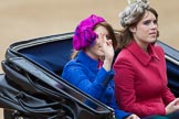 Trooping the Colour 2012: Princesses Beatrice and Eugenie of York in the second carriage.. Horse Guards Parade, Westminster, London SW1,  United Kingdom, on 16 June 2012 at 10:51, image #129