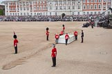 Trooping the Colour 2012: After the two carriages have passed, the saluting base for HM The Queen is moved into place.. Horse Guards Parade, Westminster, London SW1,  United Kingdom, on 16 June 2012 at 10:52, image #133