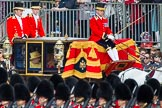 Trooping the Colour 2012: A closer look at the Glass Coach carrying HM The Queen and Prince Philip.. Horse Guards Parade, Westminster, London SW1,  United Kingdom, on 16 June 2012 at 10:58, image #155