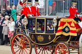Trooping the Colour 2012: The Glass Coach is passing the Colour, HRH The Prince Philip saluting the Colour.. Horse Guards Parade, Westminster, London SW1,  United Kingdom, on 16 June 2012 at 10:58, image #159
