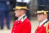 Trooping the Colour 2012: Two Grooms of the Royal Household.. Horse Guards Parade, Westminster, London SW1,  United Kingdom, on 16 June 2012 at 11:02, image #195