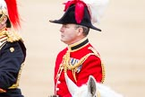 Trooping the Colour 2012: Close-up view of the Chief of Staff, Colonel R H W St G Bodington, Welsh Guards.. Horse Guards Parade, Westminster, London SW1,  United Kingdom, on 16 June 2012 at 11:03, image #207