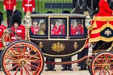 Trooping the Colour 2012: The Glass Coach with HM The Queen during the Inspection of the Line.. Horse Guards Parade, Westminster, London SW1,  United Kingdom, on 16 June 2012 at 11:03, image #214