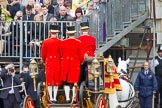 Trooping the Colour 2012: The Glass Coach is driven away through an arch of the Old Admirality Building.. Horse Guards Parade, Westminster, London SW1,  United Kingdom, on 16 June 2012 at 11:09, image #257