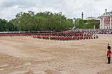 Trooping the Colour 2012: An overview of Horse Guards Parade during the Massed Bands Troop.. Horse Guards Parade, Westminster, London SW1,  United Kingdom, on 16 June 2012 at 11:12, image #269