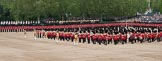 Trooping the Colour 2012: The Massed Bands playing during the Massed Bands Troop.. Horse Guards Parade, Westminster, London SW1,  United Kingdom, on 16 June 2012 at 11:12, image #271