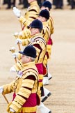 Trooping the Colour 2012: The five Drum Majors during the Massed Bands Troop.. Horse Guards Parade, Westminster, London SW1,  United Kingdom, on 16 June 2012 at 11:13, image #277