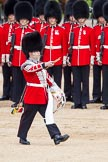 Trooping the Colour 2012: The Lone Drummer, Lance Sergeant Paul Blako, marching towards the Colour.. Horse Guards Parade, Westminster, London SW1,  United Kingdom, on 16 June 2012 at 11:16, image #291