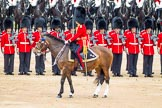 Trooping the Colour 2012: The Field Officer in Brigade Waiting, Lieutenant Colonel R C N Sergeant, Coldstream Guards, riding Burniston.. Horse Guards Parade, Westminster, London SW1,  United Kingdom, on 16 June 2012 at 11:29, image #363