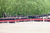Trooping the Colour 2012: Divisions are now becoming visible at No. 4 and No. 5 Guard on the left.. Horse Guards Parade, Westminster, London SW1,  United Kingdom, on 16 June 2012 at 11:30, image #368