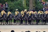 Trooping the Colour 2012: The Mounted Bands of the Household Cavalry during the March Past.. Horse Guards Parade, Westminster, London SW1,  United Kingdom, on 16 June 2012 at 11:41, image #463