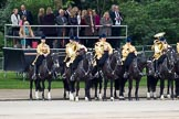 Trooping the Colour 2012: The Mounted Bands of the Household Cavalry during the March Past.. Horse Guards Parade, Westminster, London SW1,  United Kingdom, on 16 June 2012 at 11:41, image #464