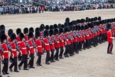 Trooping the Colour 2012: The March Past in Quick Time, here No. No. 6 Guard, F Company Scots Guards.. Horse Guards Parade, Westminster, London SW1,  United Kingdom, on 16 June 2012 at 11:46, image #497