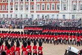 Trooping the Colour 2012: The March Past in Quick Time, the guards divisions turning left again in front of the Old Admirality Building.. Horse Guards Parade, Westminster, London SW1,  United Kingdom, on 16 June 2012 at 11:47, image #500