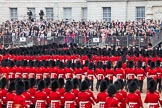 Trooping the Colour 2012: The March Past in Quick Time, the guards divisions turning left again in front of the Old Admirality Building.. Horse Guards Parade, Westminster, London SW1,  United Kingdom, on 16 June 2012 at 11:47, image #502