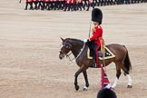 Trooping the Colour 2012: The Field Officer in Brigade Waiting, Lieutenant Colonel R C N Sergeant, Coldstream Guards, riding Burniston.. Horse Guards Parade, Westminster, London SW1,  United Kingdom, on 16 June 2012 at 11:47, image #504