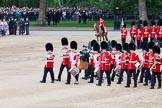 Trooping the Colour 2012: With the lines of guardsmen back in their initial positions, the Massed Bands start their move.. Horse Guards Parade, Westminster, London SW1,  United Kingdom, on 16 June 2012 at 11:52, image #520