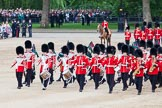 Trooping the Colour 2012: With the lines of guardsmen back in their initial positions, the Massed Bands start their move.. Horse Guards Parade, Westminster, London SW1,  United Kingdom, on 16 June 2012 at 11:52, image #521