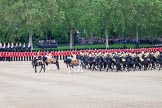 Trooping the Colour 2012: The Ride Past - the Mounted Regiment of the Household Cavalry moves onto Horse Guards Parade from the Eastern side.. Horse Guards Parade, Westminster, London SW1,  United Kingdom, on 16 June 2012 at 11:53, image #533