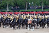 Trooping the Colour 2012: The Ride Past - the Mounted Bands of the Household Cavalry.. Horse Guards Parade, Westminster, London SW1,  United Kingdom, on 16 June 2012 at 11:54, image #540